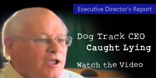 Dog Track CEO Caught Lying: Watch the Video