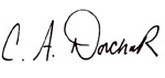 Christine Dorchak signature