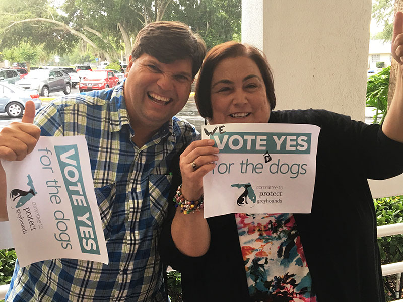 Bryan and Carla are happy with the vote!