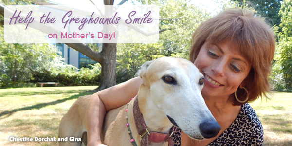 Help the greyhounds smile on Mother's Day