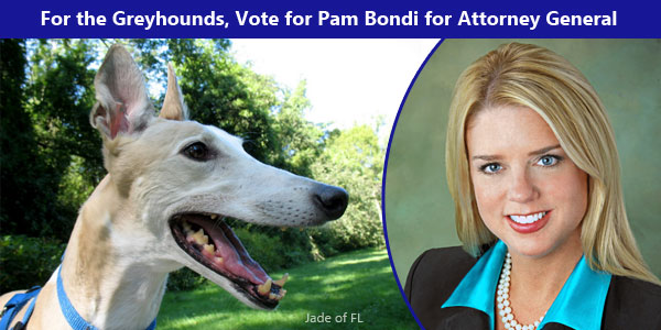 For the Greyhounds, Vote for Pam Bondi for Attorney General