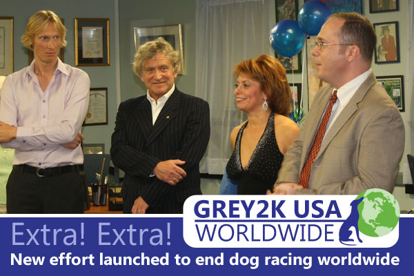 Extra, Extra!  New effort launched to end dog racing worldwide