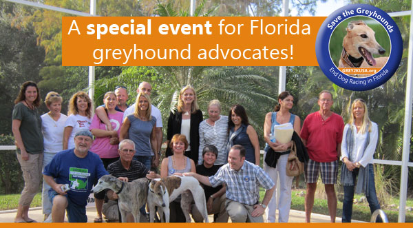 A special event for Florida greyhound advocates!
