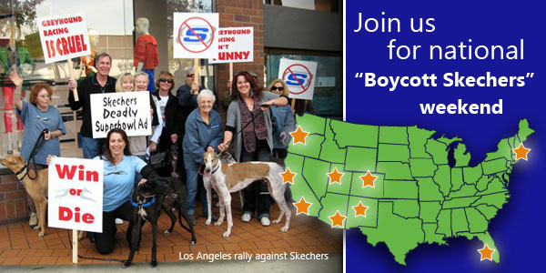 "Join us for national ""Boycott Skechers"" weekend"