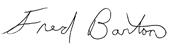 Fred Barton signature