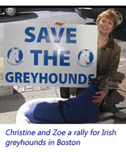 Christine and Zoe at Irish Rally