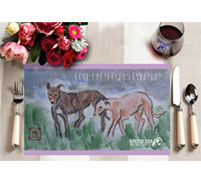GREY2K USA Worldwide placemat and wine glass