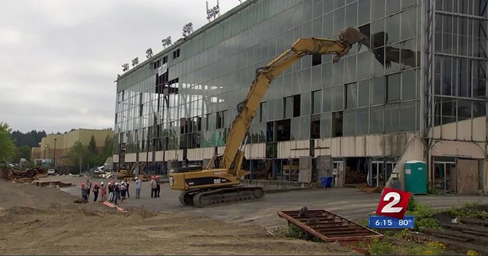 The Multnomah dog racing track in Oregon was demolished in 2016