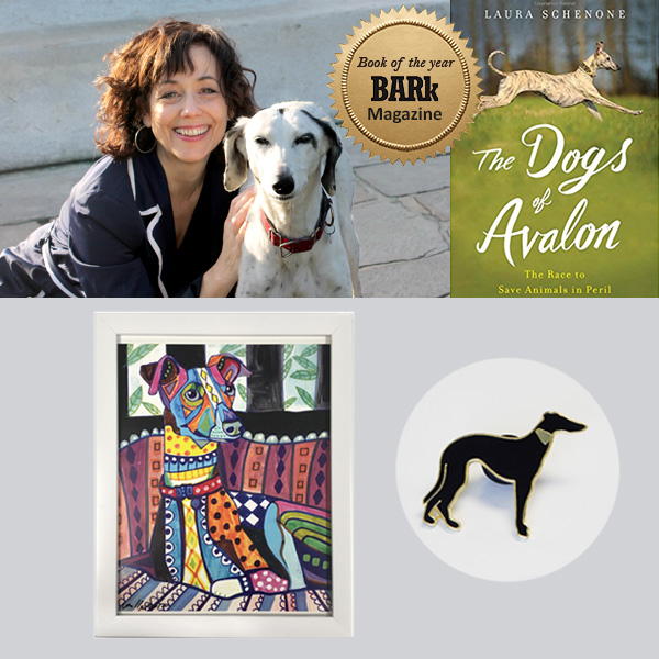 The Dogs of Avalon, Greyhound Folk Print, Greyhound Pin