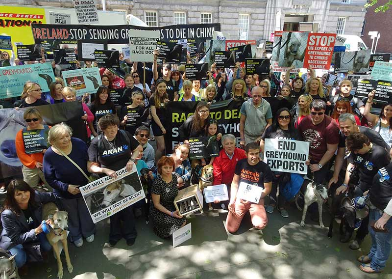 Rally for the Greyhounds in Dublin, Ireland