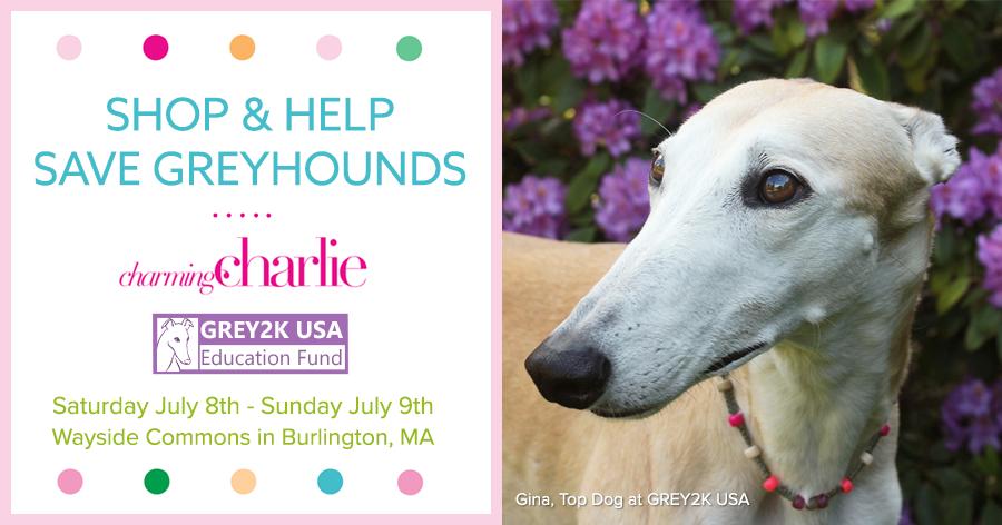 Shop and help save greyhounds